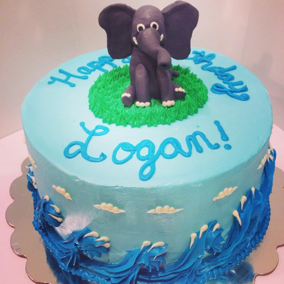 Fabulous Elephant Birthday Cake Elizabeth Lowry Cakes Funny Birthday Cards Online Necthendildamsfinfo